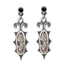 Серьги унисекс с цирконом готические модные ювелирные украшения