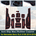Противоскользящие дверные резиновые чашки подушки для Mercedes Benz GLA X156 2014 ~ 2019 GLA180 GLA200 GLA220 GLA250 GLA45 аксессуары для интерьера