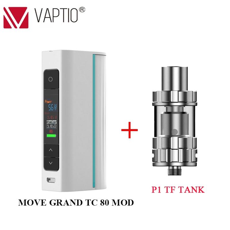 En Stock! Vape Mod Cigarette électronique déplacer Grand TC 80W boîte Mod Fit atomiseur 510 fil unique 18650 batterie (sans batterie)