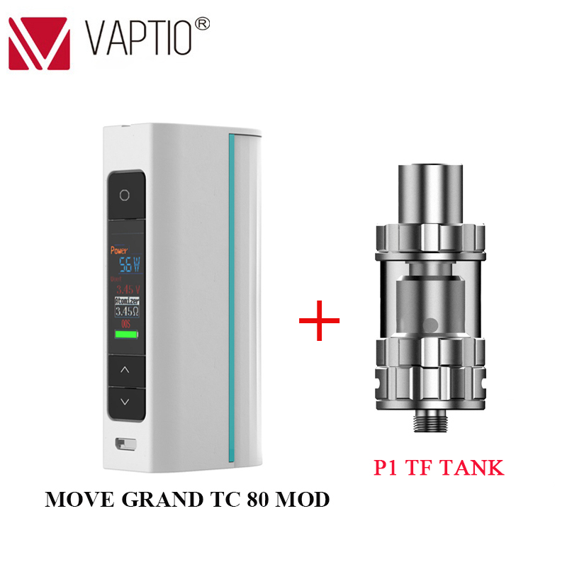 In Stock! Vape Mod Electronic Cigarette Move Grand TC 80W Box Mod Fit Atomizer 510 Thread Single 18650 Battery (Without Battery)