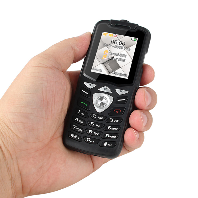 UNIWA W2026 2G GSM Push Button Key Cellphone Feature Mobile Phone  Led Flashlight Dual SIM Card Senior Kids Mini Phone Unlocked