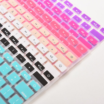 28.7cm x 11.9cm Silicone Keyboard Cover Skin Protector 7 Candy Colors For Apple Macbook Pro MAC 13 15 17 image