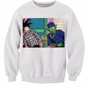 Goku and Master Roshi 3d Printed Sweatshirt Dragon Ball Z Super Saiyan Harajuku Fashion Long sleeve Sweatshirt Crewneck Pullover(China)
