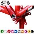 MUQZI велосипедная стоматологическая пластина крышка шатуна Кривошип винтовая крышка M15 BMX дорожный велосипедный фитинг 10 цветов