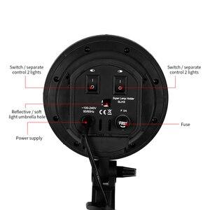 Image 3 - Fotoğraf Softbox aydınlatma kiti 8 adet E27 45W LED ampuller fotoğraf stüdyo ışığı ekipmanları ışık kutusu Youtube Video