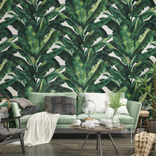 wallpaper Southeast Asia Nordic Green Plants Golden Banana Leaf Wallpaper Tropical Rainforest Living Room Background Wall paper beibehang custom mural 3d wallpaper southeast asia tropical rainforest banana leaf birds and flowers background wall wallpaper