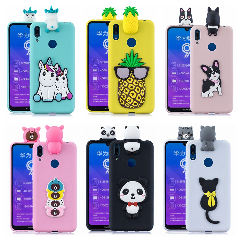 etui <font><b>Huawei</b></font> <font><b>Y6</b></font> Y7 Prime <font><b>2019</b></font> <font><b>Case</b></font> <font><b>Cover</b></font> Y5 Y7 Y9 Cute DIY 3D Dog Unicorn Panda Silicone <font><b>Case</b></font> for Funda <font><b>Huawei</b></font> <font><b>Y6</b></font> Y7 Y9 <font><b>2019</b></font> <font><b>Case</b></font> image