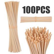 100 шт 3*22 см натуральные тростниковые диффузоры, ароматические Сменные Ротанговые палочки для освежителя воздуха, домашний ароматизатор
