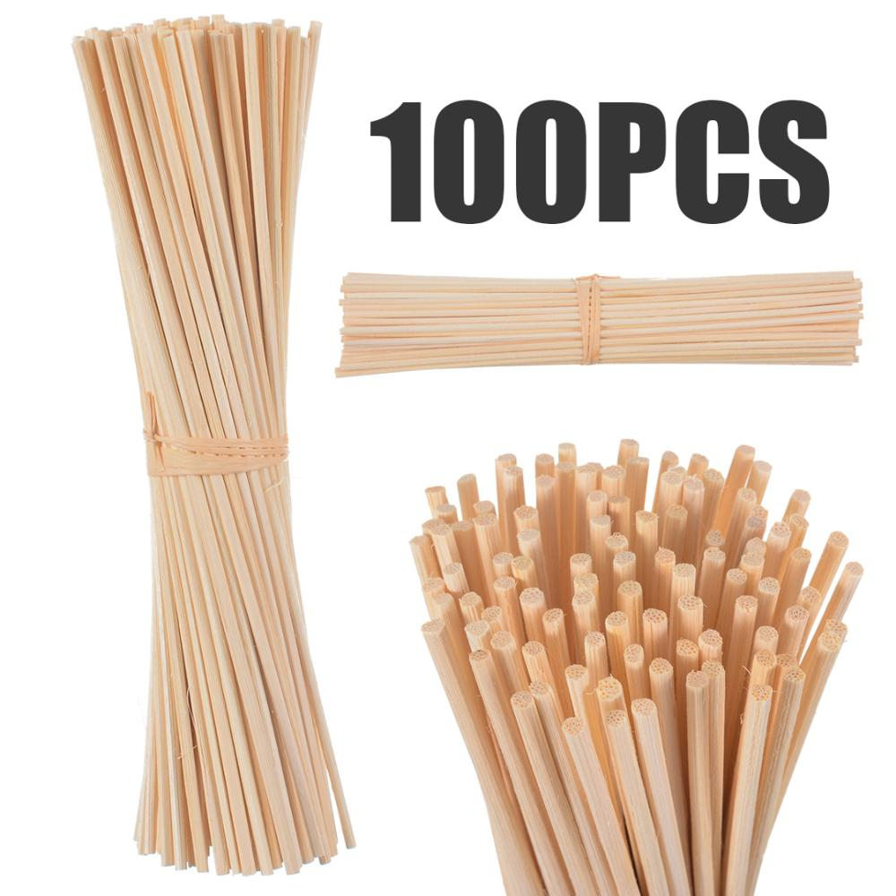 100 PCS 3*22CM Nature Reed Diffuser Sticks Aroma Replacement Rattan Sticks For Air Freshener Home Fragrance