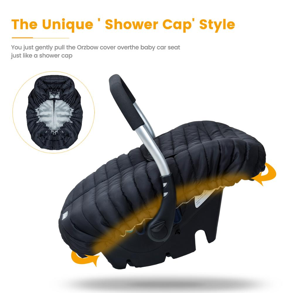 Orzbow Baby Basket Car Seat Cover Warm Newborn Infant Carrier Cover Waterproof Baby Car Seat Envelope Newborn Footmuff in Travel 3