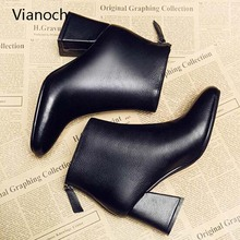 Vianoch Fashion Womens Boots Winter Fur High Heels Sexy Platform Pumps Shoes Lady wo1808152