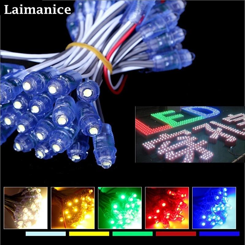50 x LED Pixel Light String Billboard Sign Lamp DC5V 12V 9mm Exposed Waterproof