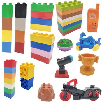 Klasyczne duże ziarno cegły meble trójkołowy zestaw klocków motocyklowych chłopiec dziewczyna dzieci zabawki kompatybilne z dużym blokiem tanie i dobre opinie Unisex 3 lat Certyfikat BLOCKS keep away fire Plastic