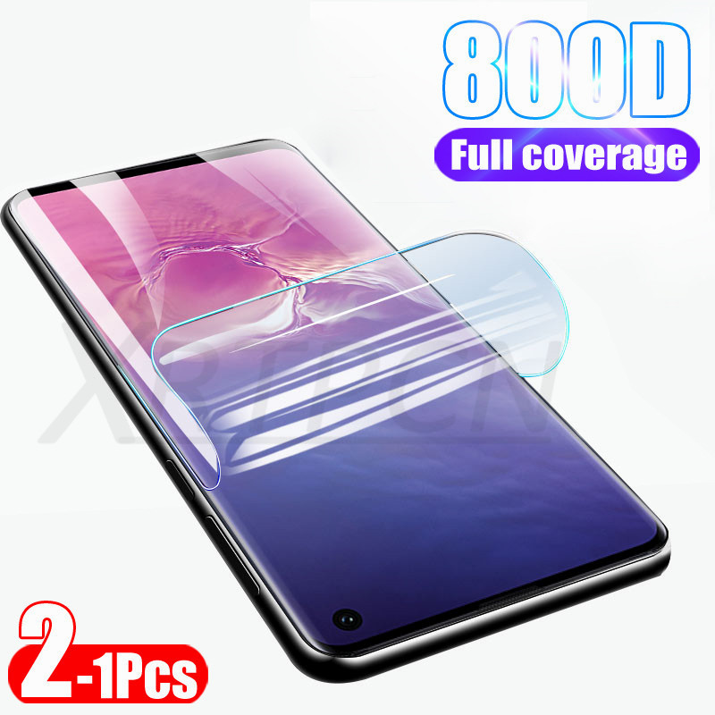 800D 2Pcs Soft Protective Film Not Glass On For Samsung Galaxy S10 S9 S8 Plus S10E Note 8 9 10 Screen Protector Hydrogel Film