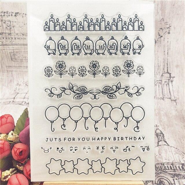 Fond de ballon Transparent tampons en Silicone Transparent pour bricolage Scrapbooking/Sentiment timbre Album Photo fabrication de cartes décoratives