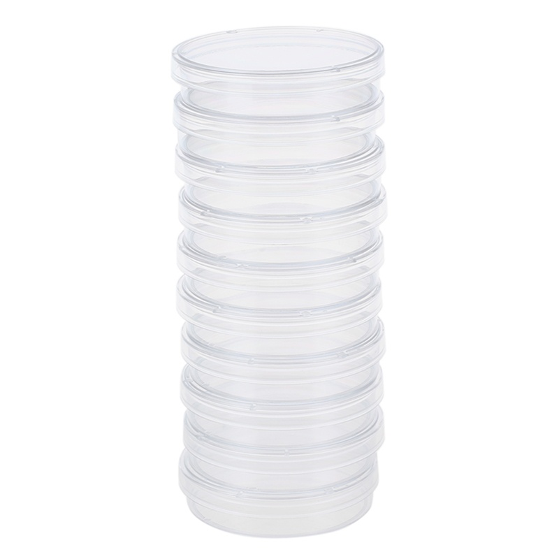 10 Pcs 60mm X 15mm Polystyrene Sterilized Petri Dishes With Lids Clear