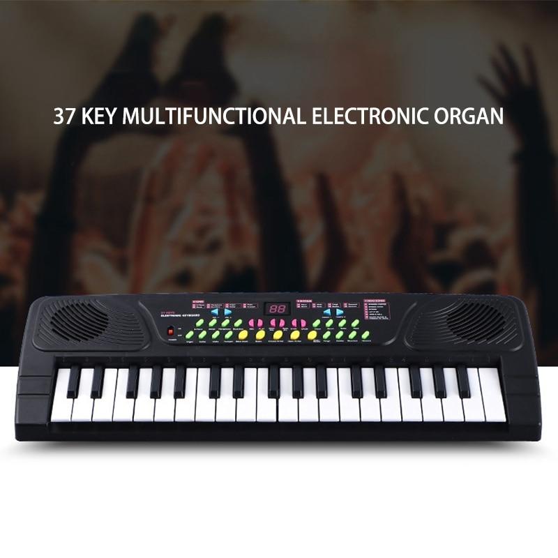 Multifuncional mini piano eletrônico com microfone crianças