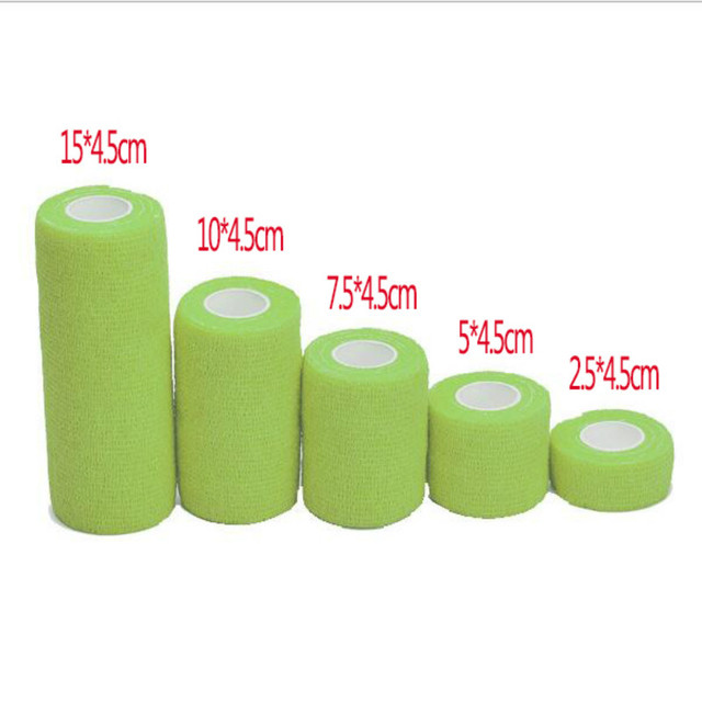 Hot Sale Self-adhesive Cshesive Bandage First Aid Kit Sports Body Gauze Vet Tape Security Protection Emergency 2.5/5/7.5/10/15cm