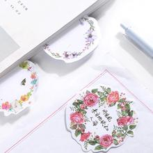 2pack/lot new arrival wreath design note pads message memeo vintage sticky notes Office and school supplies stationery