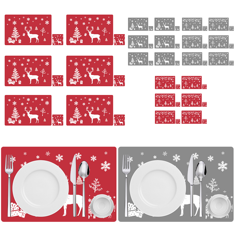 6 Sets of Matching Christmas Placemats and Coasters 2