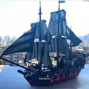 Creator series Kingdom Temestuous Waves Pirate Ship 3D Model Building Blocks Enternal diamond Bricks QL1803 QL1801 QL1802 QL1804