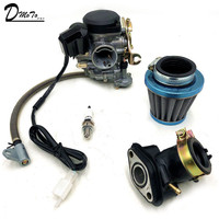 18mm GY6 50cc SCOOTER MOPED PD18J CVK CARBURETOR CARB 139QMB 139QMA ATV QUADS GO KART BUGGY (PD18J)