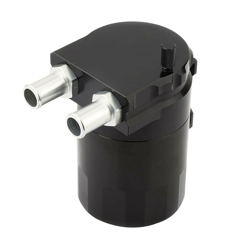 Universal Baffled Oil Catch Tank Can Car Racing Engine Reservoir Breather Black|Block & Parts| |  - title=