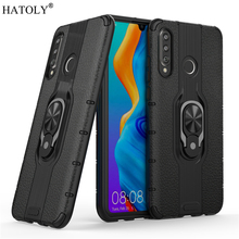 For Huawei P30 Lite Case Armor Funda Finger Ring Silicone PC Hard Back Phone