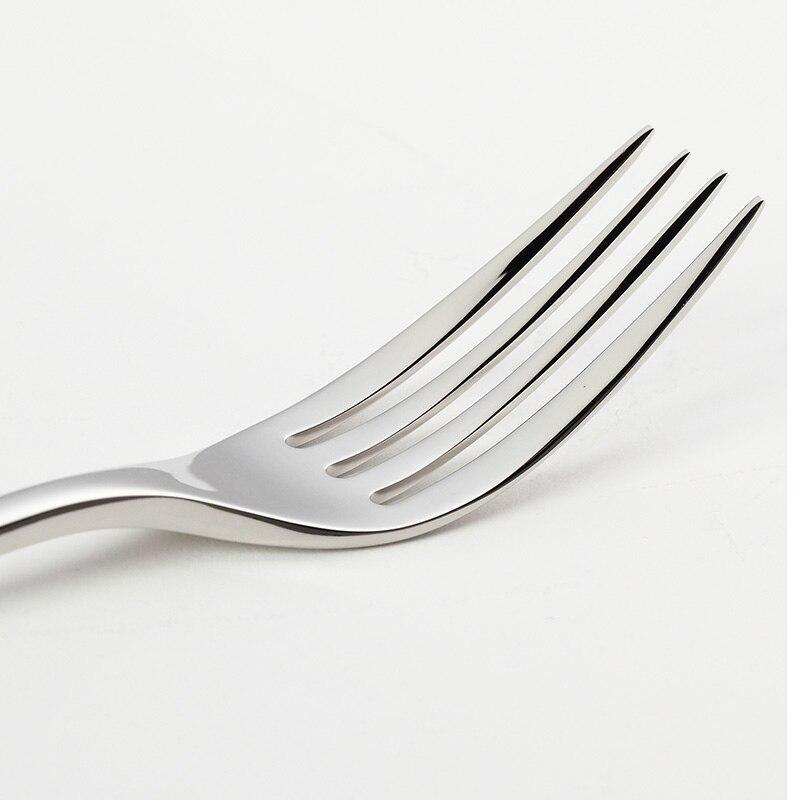 24Pcs/set Dinnerware Set 18/10 Stainless Steel Silverware Tableware Luxury Cutlery Set Flatware Knife Fork Spoon Dishwasher Safe 4