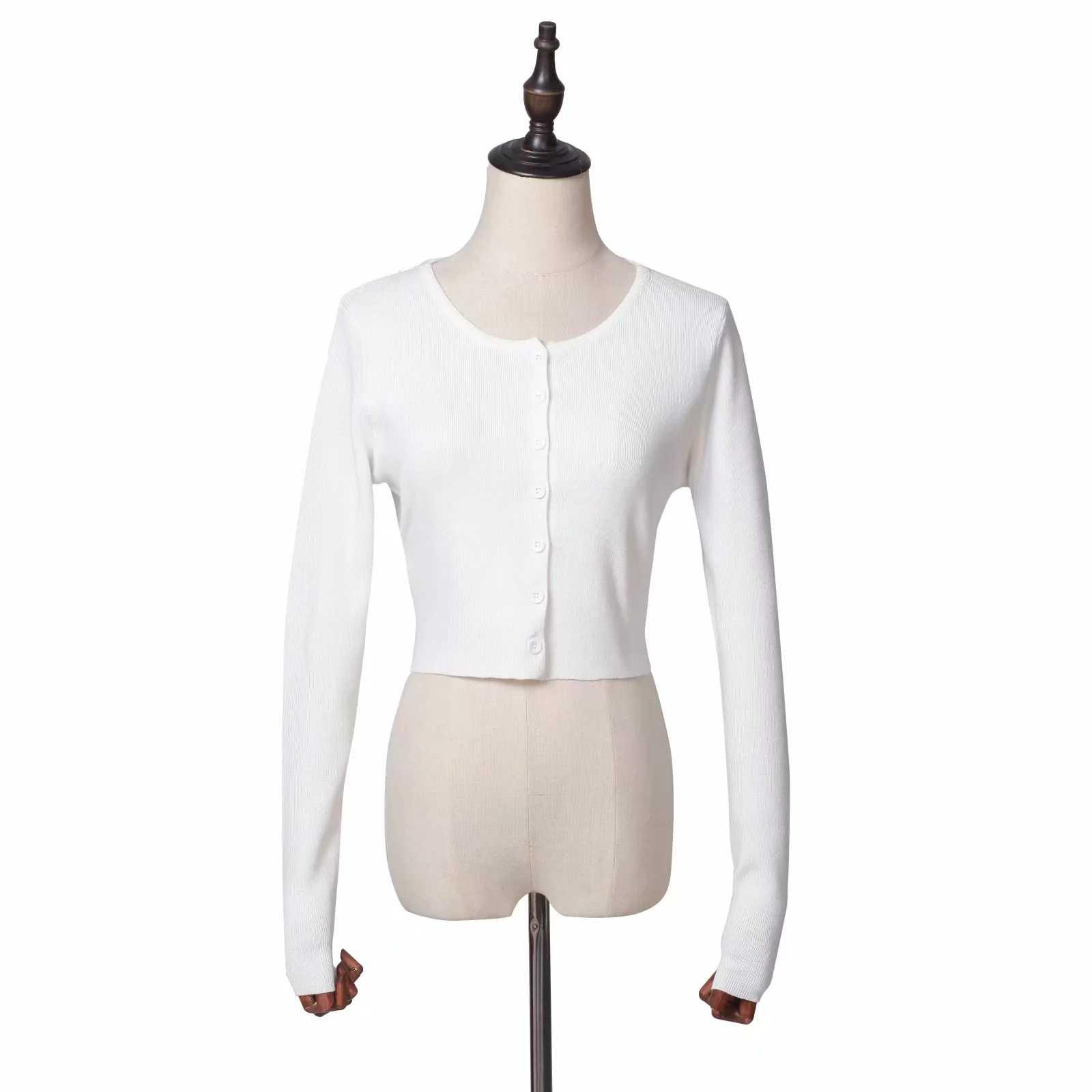 가을 2020 니트 가디건 한국어 버튼 카와이 핑크 블랙 스웨터 자른 카디건 여성 귀여운 자르기 스웨터 겨울 Streetwear
