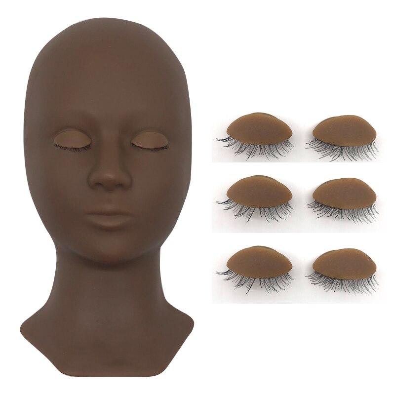 3 cores cílios extensão formação manequim cabeça