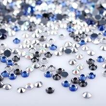 Couleurs mélangées Strass/boîte cristal ensemble Strass pierre Hotfix Strass Flatback Strass pour vêtements bricolage diamant décoration
