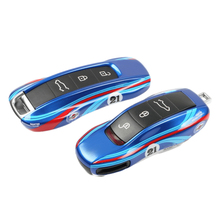 sncn leather car key case cover key wallet bag keychain holder for porsche 718 boxster cayman 911 cayenne macan panamera Key cover for Porsche for Panamera Cayenne 971 911 9YA Macan boxster key case car key shell keychain cover racing style key case