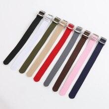 O 16 18 20 22mm Men Women Casual Watch Band nylon perlon straps weave watch strap band Unisex Accessories