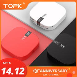 TOPK 10000mAh כוח בנק USB הכפול מיני נייד טלפון נייד חיצוני סוללה Powerbank עבור iPhone סמסונג Xiaomi