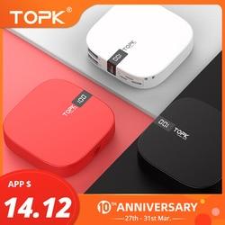 TOPK 10000mAh Power Bank Dual USB Mini Portable Mobile Phone External Battery Powerbank for iPhone Samsung Xiaomi