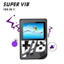 1Set 169 in 1 Super VIB Vibration Games Retro Video Game Handheld Console Built-in 8 Bit Mini Gaming Host Machine Q84A(China)