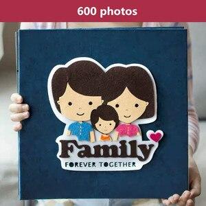 Image 5 - PA5 6 inch photo album 700 photos page type children family album creative felt paste cartoon cover baby grow album