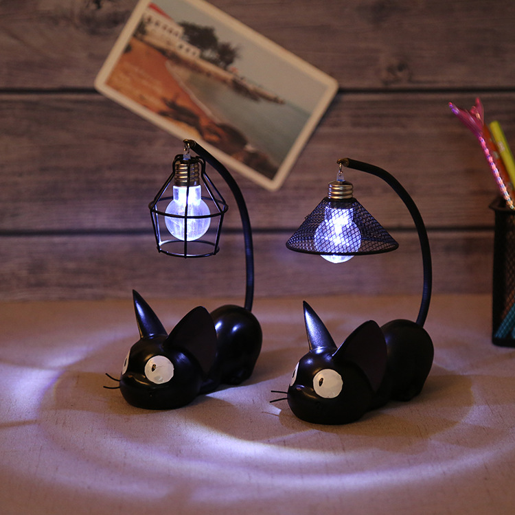 Creative Resin Cat Animal LED Night Lights Ornaments Home Decoration Small Cat Night Lamp For Child Kids Toys Gifts Table Lamps