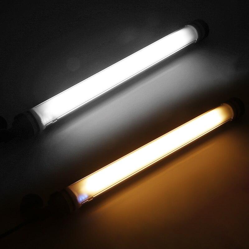 1000lux двухцветная фотография светильник светодиодный видео светильник водонепроницаемый кемпинг светильник IP68 USB Аккумуляторная аварийная