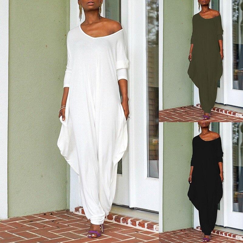 2019 осенний женский комбинезон, сексуальный комбинезон с открытыми плечами, с длинным рукавом, для работы в офисе, с широкими штанинами, комбинезоны, befree, уличная одежда|Комбинезоны c шортами|   | АлиЭкспресс