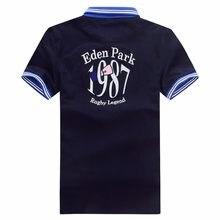 Melhor venda de frança marca parque verão homem polo camisas algodão manga curta bordado eden polos camisa na moda para homem mais 3xl