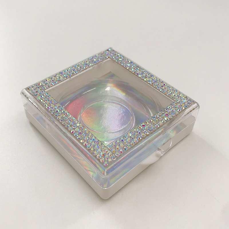 Caixa de empacotamento feita sob encomenda do strass do brilho dos c lios do vison 3d
