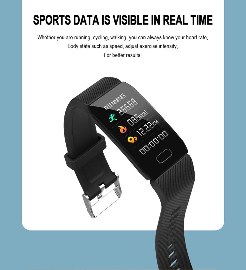 Hc9dea8bb7320476db56d9f6eb5e244d20 Fitness Bracelet Blood Pressure 1.14'' Screen Fitness Tracker Smart Watch Waterproof Smart Wristband Weather Display Women Men