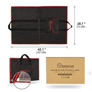 Image 5 - Dokio 18V 100w פנל סולארי 12V גמיש Foldble שמש מטען טלפון נייד usb חיצוני פנלים סולאריים עבור קמפינג/סירות/בית