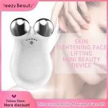 Masażer twarzy Lifting twarzy urządzenie mikroprądowe napinanie skóry odmładzanie Roller wibrator przeciw zmarszczkom V narzędzie do pielęgnacji skóry twarzy