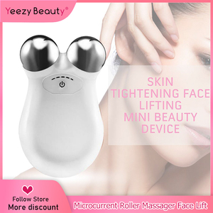 Image 1 - Masażer twarzy Lifting twarzy urządzenie mikroprądowe napinanie skóry odmładzanie Roller wibrator przeciw zmarszczkom V narzędzie do pielęgnacji skóry twarzy