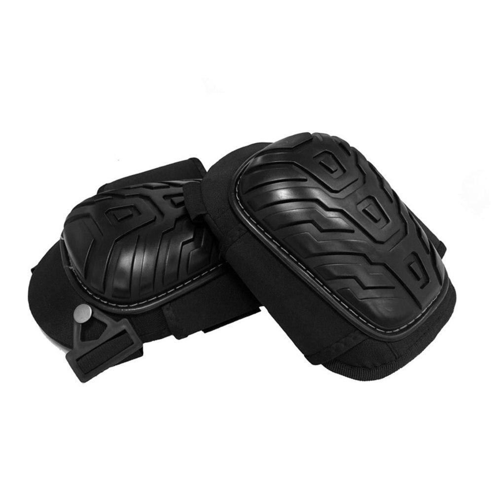 1 пар/уп. профессиональные наколенники с регулируемыми ремнями безопасная EVA Гелевая подушка ПВХ оболочка наколенники для тяжелой работы