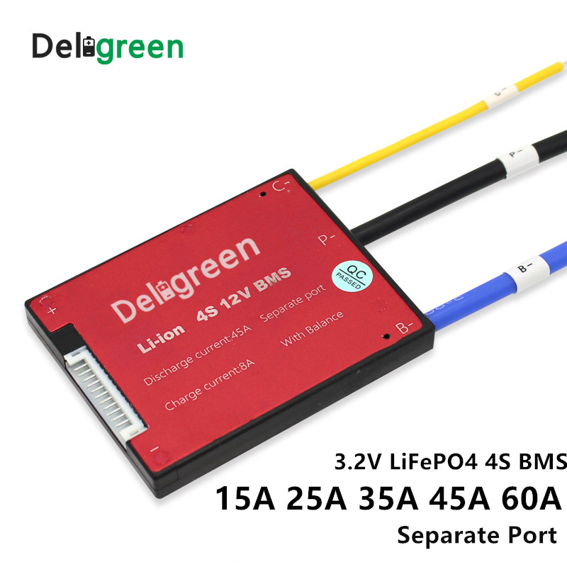 3.2v LifePO4 BMS 4S 12V 15A 25A 45A 60A PCM/PCB/BMS LiFePO4 Bms LiNCM LMO Li-po 18650 Battery Pack With Balance
