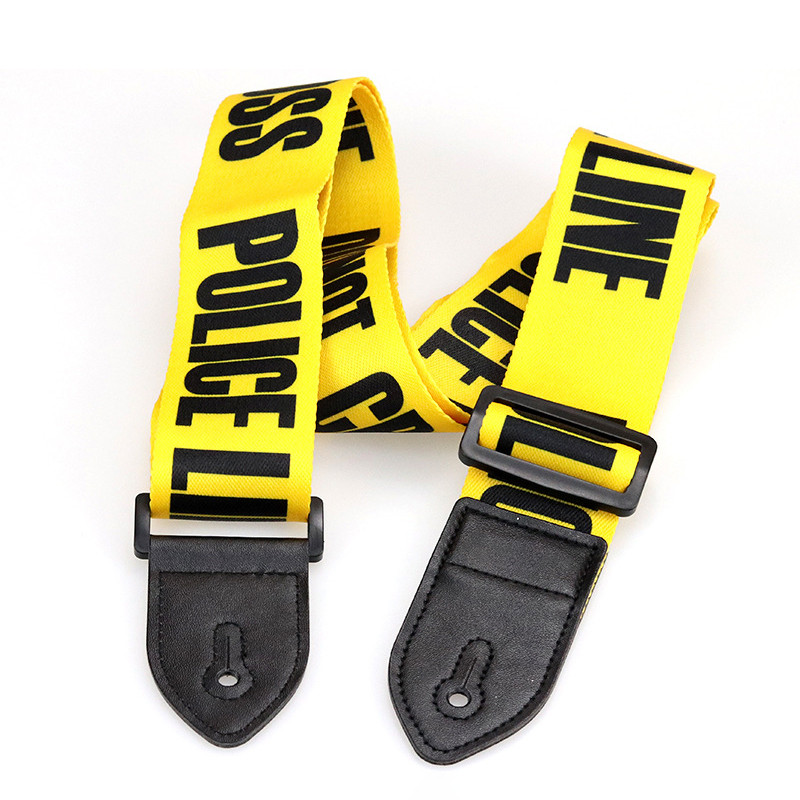Adjustable Guitar Strap Yellow Electric Bass Strap PU Leather End Strap Belt Musical Instruments Guitar Accessories